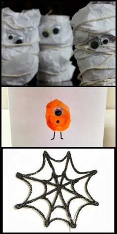13 fun and simple HALLOWEEN crafts for kids!