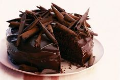 Indulge in these irrestible chocolate cake recipes. From classic chocolate fudge cake to gooey chocolate torte, find your new favourite. From BBC Good Food. Ultimate Chocolate Cake, Dark Chocolate Cakes, Chocolate Curls, Chocolate Food, Decadent Chocolate, Delicious Chocolate, Chocolate Lovers, Chocolate Ganache, Chocolate Recipes