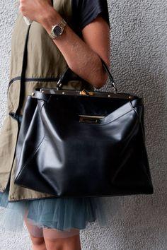 Street-Style Accessories at Milan Fashion Week Spring 2013 : Fendi Peekaboo