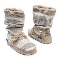 MUK LUKS® Jenna Womens Striped Boot Slippers - JCPenney