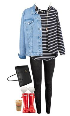 Untitled #1490 by southernstruttin on Polyvore featuring H&M, Hunter, MICHAEL Michael Kors, Kate Spade and Linda Farrow