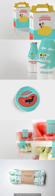 Muyum, healthy food for kids packaging design grafika, inspiracja. Kids Packaging, Food Packaging Design, Pretty Packaging, Packaging Design Inspiration, Brand Packaging, Packaging Snack, Food Design, Web Design, Label Design