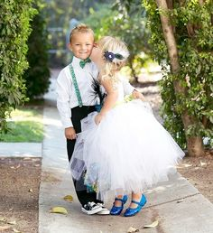 Love the shoes for flower girl
