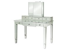 I saw this vanity in House Beautiful. It is really gorgeous with all the right accessories. Would be so nice to have in the bathroom. Bungalow 5 furniture- Catherine Vanity Desk