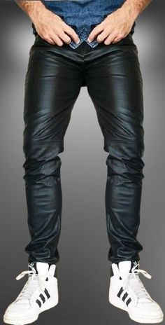 Mens Leather Pants, Tight Leather Pants, Cool Style, Tights, Fashion, Black Leather Pants, Clothing, Man Outfit, Navy Tights