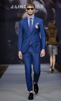 J. Lindeberg Spring 2015 at Stockholm Fashion Week. Blue color reference