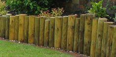 "log retaining wall"" design | Full-round log retaining wall to ..."