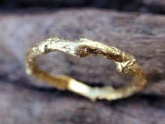 gold ring - wedding band engagement ring - solid gold branch ring - handmade - twig jewelry - recycled - fall - stacking - made to order by preciousjd on Etsy Wedding Ring Images, Twig Wedding Band, Wedding Rings, Gold Wedding, Forest Wedding, Dream Wedding, Branch Ring, 14 Carat, Rings