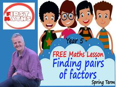 YouTube Finding pairs of factors Maths PowerPoint Lesson - FREE Year 5 - Spring Term