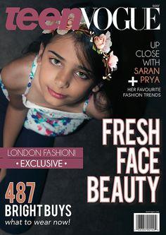 Teen Vogue Magazine Cover (Personal Project) by Caroline Azariah, via Behance