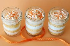 creamsicle cupcakes in a jar