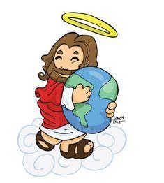 jesus Image Jesus, Jesus Christ Images, Bible Art, Bible Verses, Idees Cate, Jesus Artwork, Christian Cartoons, Jesus Cartoon, Bibel Journal