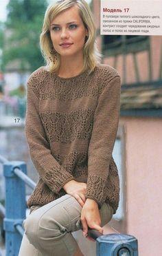 2 красивых женственных пуловера спицами