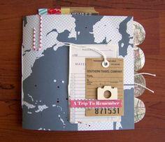 Mini album de viajes, con distintas estructuras internas. ¡Genial para hacer un road book!