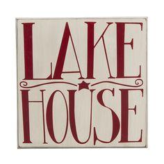 "NEW ITEM! Lake House Box Sign  Measures: 13.75"" Square  Wood"