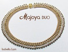 MAJOYA SuperDuo Beadwork Necklace tutorial instructions by bead4me