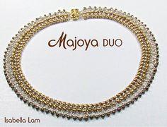 MAJOYA SuperDuo Beadwork Necklace tutorial instructions by bead4me