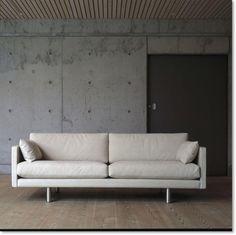 EJ220/270 sofa, Erik Jørgensen, 2 pers. sofa i hvid