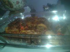 Carne assada de forno.