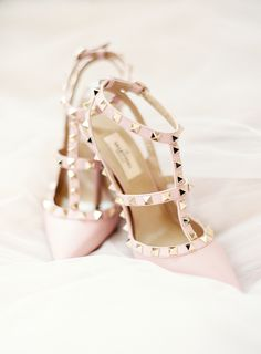 Blush Valentino studded stilettos | Photography: Lauren Peele