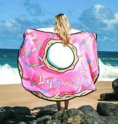 150 cm Grande Donut ronde en microfibre de plage Vacances Serviette de bain léger Camping Gym Serviette de sport: Grand drap de plage rond…
