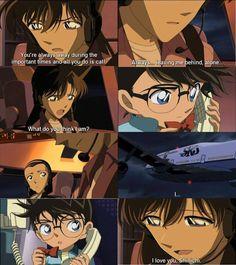 Conan, Ran and Sonoko