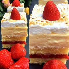 Strawberry Cakes, Food Photography, Cheesecake, Food And Drink, Sweets, Cookies, Baking, Burlap Crafts, Hungarian Recipes