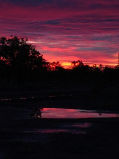 One of the beautifull things of the outback is the sunrise and sunset. That's what got us this beautiful picture
