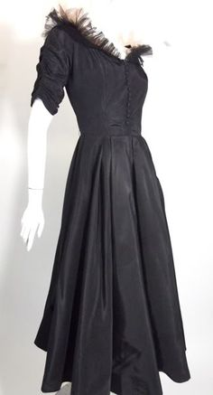 ~1950s black and pink Emma Domb Party dress~