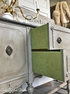 That can't be grammy's buffet! Annie Sloan Chalk Paint, Milk Paint, Drawer, Detail, Antiques, Creative, Painting, Inspiration, Art