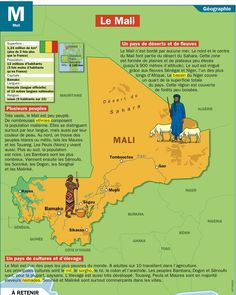 Le Mali-from what I've looked up , it seems that French is the main language in Mali along with their native language Malian. Ap French, French Class, Learn French, Study French, Afrique Francophone, Pays Francophone, French Teaching Resources, Teaching French, Language Study