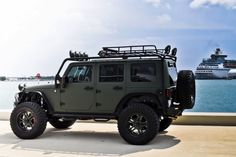 Military Green Jeep Wrangler by CEC Wheels