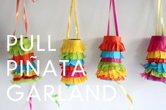 Same idea as party popper garland but with Toilet paper rolls!  pull-pinata-garland-diy-016B