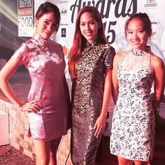 """Awards usherettes decked in their #cheongsam for #toklfa"""
