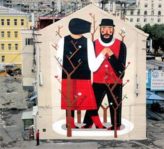 Juxtapoz Magazine - New Agostino Lacurci mural in Densers, Moscow
