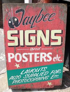 hand painted signs   40+ Great Lettering Examples On Hand Painted Signs