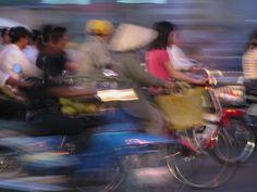 Motorcycle traffic in Saigon, Vietnam (2007) - Photo taken by BradJill