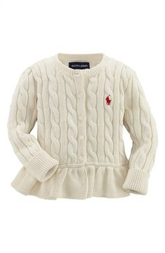 Cyber Mondal Deal: Ralph Lauren Baby Peplum Cardigan, 33% Off - Kyns had the button up cardi last yr :)