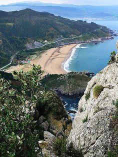 La Playa de Laga desde Ogoño  Pais Vasco