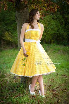 """Petticoatkleid """"Mabelle"""" von Atelier Belle Couture 50er Jahre Petticoatkleider Rockabilly Kleider auf DaWanda.com"""