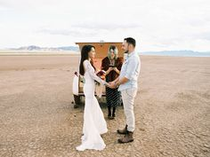 las vegas boho desert wedding | Flora Pop Wedding | Silver Trailer rentals | dress by Grace Loves Lace | @victoriahogan @graceloveslace