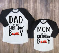 Mom and dad of the birthday boy-firetruck version, firetruck birthday shirt, firetruck birthday, fireman party, fireman birthday by JADEandPAIIGE on Etsy https://www.etsy.com/listing/585705352/mom-and-dad-of-the-birthday-boy