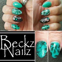 My own nails...one of my fav sets & colours..#beckznailz www.beckznailz.com