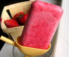 strawberry yogurt popsicles. need to make, pronto.