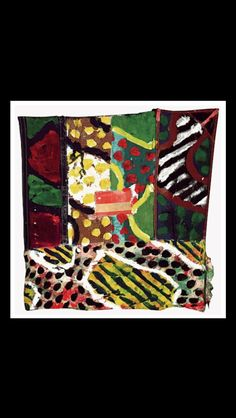 Claude Viallat - Sans titre, 1997 - Acrylique sur bâche et tissus cousus - 78 x 77 cm (*)