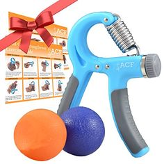 ACF Hand Grip Strengthener Strength Trainer Adjustable Resistance 2288 Lbs Best Hand Exerciser Gripper or Ball Set -- You can find more details by visiting the image link.