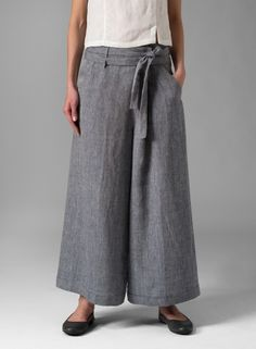 PLUS Clothing - Linen Wide-Leg Pants