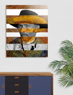 Discover «Van Gogh's Self Portrait and Lee Van Cleef», Exclusive Edition Aluminum Print by Luigi Tarini - From $75 - Curioos