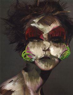 Vermibus  Portrait / déformation / transformation / pub / street art