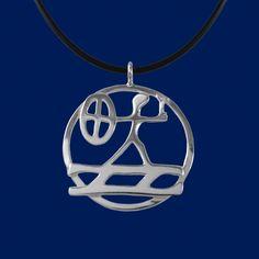 Pendant with sami shaman noaide/noaidi drum glyph http://en.taigakoru.mycashflow.fi/product/277/the-shaman-big-pendant